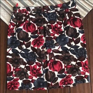 Boden Floral Printed Skirt Size 14